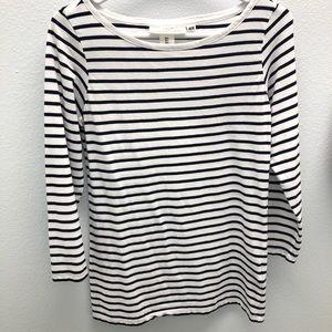 H&M long sleeve T-shirt stripe large 3/$20
